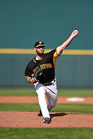 Pittsburgh Pirates pitcher Jeremy Bleich (68) during a Spring Training game against the New York Yankees on March 5, 2015 at McKechnie Field in Bradenton, Florida.  New York defeated Pittsburgh 2-1.  (Mike Janes/Four Seam Images)