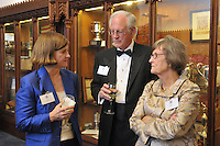 Guest, Henry B. Schacht and Nancy Schacht. Cocktail Reception for Yale University Athletics Blue Leadership 2009 Honorees. Kiphuth Trophy Room, Payne Whitney Gym on 20 November '09.