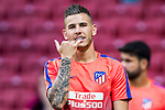Lucas Hernandez of Atletico de Madrid gestures prior to the La Liga 2018-19 match between Atletico de Madrid and Rayo Vallecano at Wanda Metropolitano on August 25 2018 in Madrid, Spain. Photo by Diego Souto / Power Sport Images