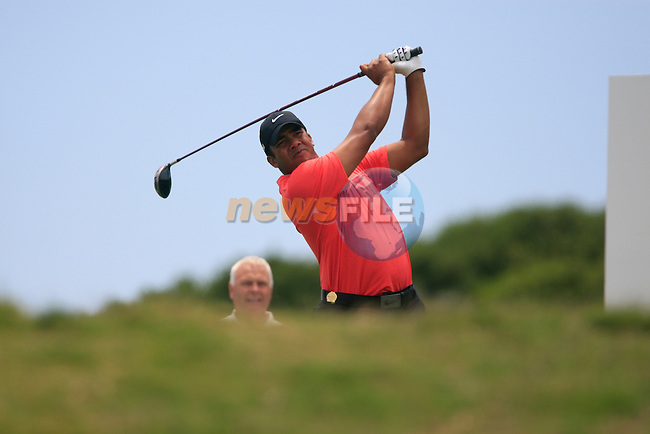 Jhonattan Vegas (VEN) tees off on the 5th tee during the afternoon session on Day 2 of the Volvo World Match Play Championship in Finca Cortesin, Casares, Spain, 20th May 2011. (Photo Eoin Clarke/Golffile 2011)