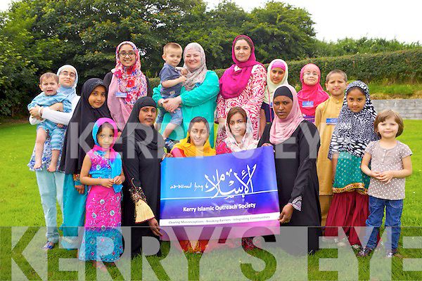 Members of the muslim community will be holding an their first Islamic Cultural Exhibition in Tralee on August 24th in the Brandon Hotel. Pictured from front l-r were: Eman Chaudhry, Naima Sharif, Fatima Tariq, Sana Tariq, Abdiyo Sharif, Omar Waheed, Fatima Chaudhry.<br /> BAck l-r were: Maryam Waheed, Mohammed Khan, Zara Chaudhry, Fizza Rizwan, Laraib Chaudhry, Janice Burke, Sami Ullah, Rana Tariq, Eshaal Rana and Aliza Rizwan.