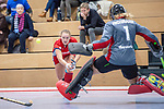 Mannheim, Germany, December 01: During the Bundesliga indoor women hockey match between Mannheimer HC and Nuernberger HTC on December 1, 2019 at Irma-Roechling-Halle in Mannheim, Germany. Final score 7-1. (Copyright Dirk Markgraf / 265-images.com) *** Stine Kurz #27 of Mannheimer HC
