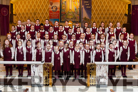 Pupils of Scoil Mháthair Dé Abbeyfeale held a Christmas Cantata last Thursday night in the Church of the Assumption . This is a very popular annual event directed by  school principal Mrs Ann O' Callaghan. Proceeds go to The Simon Community.