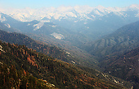 Stock photo: Gorgeous sierra Nevada mountain peaks landscape in Sequoia national park in California USA.