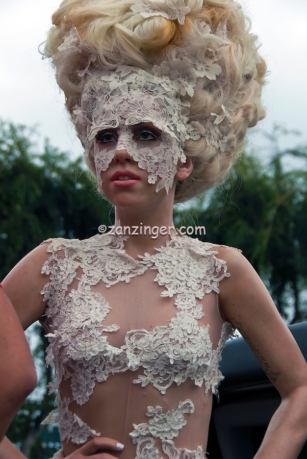 Lady Gaga's, Wax Figure, At Madame Tussauds, Hollywood, CA ,Vertical image