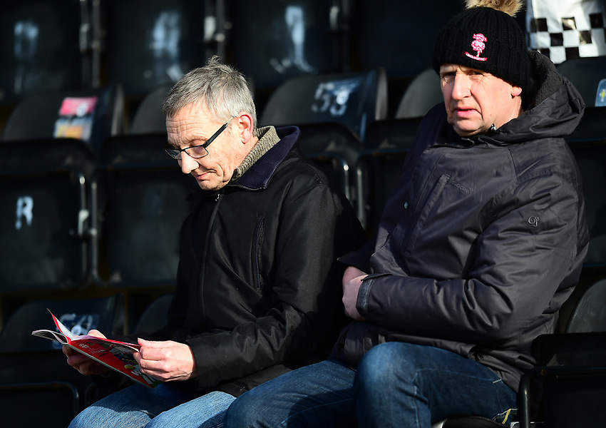 Lincoln City fans enjoy the pre-match atmosphere<br /> <br /> Photographer Andrew Vaughan/CameraSport<br /> <br /> The EFL Sky Bet League Two - Lincoln City v Northampton Town - Saturday 9th February 2019 - Sincil Bank - Lincoln<br /> <br /> World Copyright © 2019 CameraSport. All rights reserved. 43 Linden Ave. Countesthorpe. Leicester. England. LE8 5PG - Tel: +44 (0) 116 277 4147 - admin@camerasport.com - www.camerasport.com