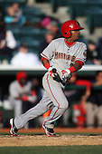 April 10, 2010:  Second Baseman Michael Martinez of the Harrisburg Senators during a game at Blair County Ballpark in Altoona, PA.  Harrisburg is the Double-A Eastern League affiliate of the Washington Nationals.  Photo By Mike Janes/Four Seam Images