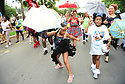 Members of the Baby Doll Sisterhood second line in memory of Baby Doll Tee Eva Perry, who died at 83 on June 7, in New Orleans, La. Monday, June 11, 2018. Pinky Harris and JaÍNiya 'G-Baby Doll' Dabney
