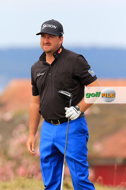 Graeme McDOWELL (NIR) tees off the 18th tee during Thursday's Round 1 of the 2015 U.S. Open 115th National Championship held at Chambers Bay, Seattle, Washington, USA. 6/18/2015.<br /> Picture: Golffile | Eoin Clarke<br /> <br /> <br /> <br /> <br /> All photo usage must carry mandatory copyright credit (&copy; Golffile | Eoin Clarke)