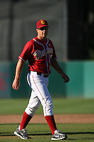 Chad Krueter of the USC Trojans during game against the  Western Carolina Catamounts at Dedeaux Field in Los Angeles,CA.  Photo by Larry Goren/Four Seam Images