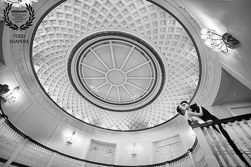 In the elegant rotunda at Abigail Kirsch's Tappan Hill Mansion, Emily and Ray share their delirious love moments before their ceremony.