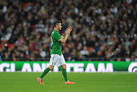 29.05.2013 London, England. Republic of Ireland captain Robbie Keane leaves the pitch after being substituted during the International Friendly between England and Republic of Ireland from Wembley Stadium.