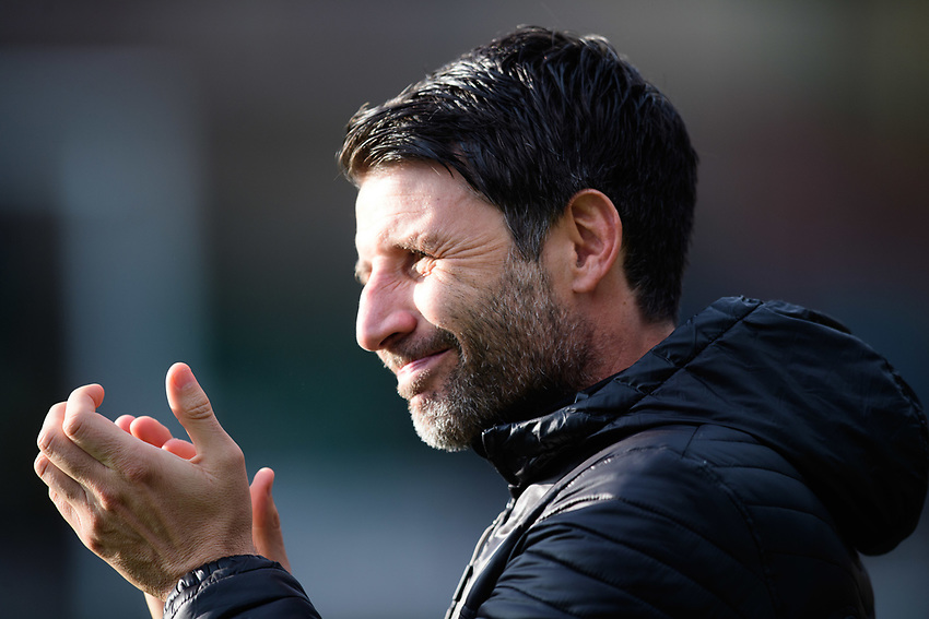 Lincoln City manager Danny Cowley during the pre-match warm-up<br /> <br /> Photographer Chris Vaughan/CameraSport<br /> <br /> The EFL Sky Bet League Two - Lincoln City v Mansfield Town - Saturday 24th November 2018 - Sincil Bank - Lincoln<br /> <br /> World Copyright © 2018 CameraSport. All rights reserved. 43 Linden Ave. Countesthorpe. Leicester. England. LE8 5PG - Tel: +44 (0) 116 277 4147 - admin@camerasport.com - www.camerasport.com