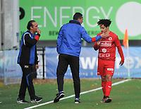 FC GULLEGEM - FC RUPEL BOOM :<br /> technische staf van Gullegem feliciteert Nagim Amini met zijn gelijkmaker<br /> <br /> Foto VDB / Bart Vandenbroucke