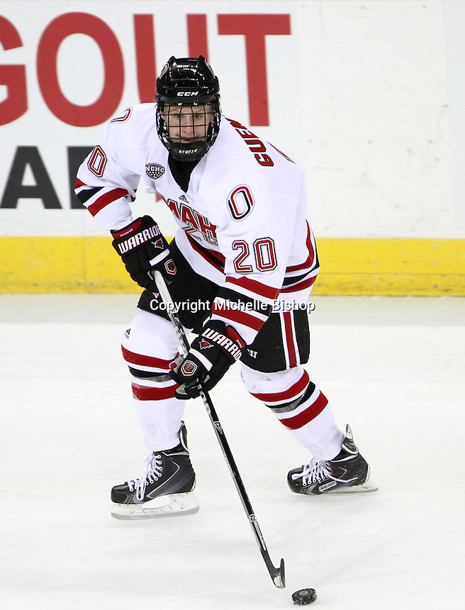 UNO's Jake Guentzel. Nebraska-Omaha beat the NAIT Ooks 6-1 at the CenturyLink Center in Omaha on Monday, October 7, 2013. (Photo by Michelle Bishop)