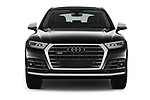 Car photography straight front view of a 2018 Audi SQ5 Base 5 Door SUV