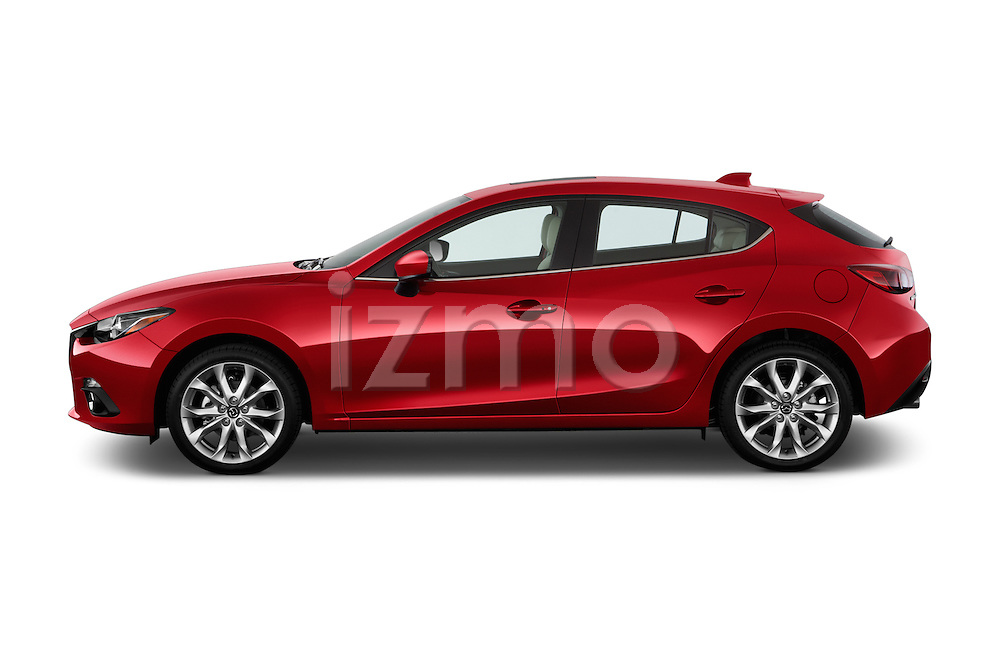 Driver side profile view of a 2014 Mazda Mazda 3 I Grand Touring HatchBack