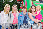 Enjoying the Barbecue in the Manor Inn Hotel after the Astella's Raft race in Killorglin on Friday was l-r Deirdre Nelligan Tralee, Fiona Frawley Tralee, Annette Houlihan Killorglin, Bridget Sheehan and Erin Houlihan Valentia