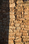 Utah, Hovenweep National Monument, Square Tower group, tower stone detail, Ancient Pueblo or Anasazi people, archeology, sunrise, U.S.A., Southwest America,