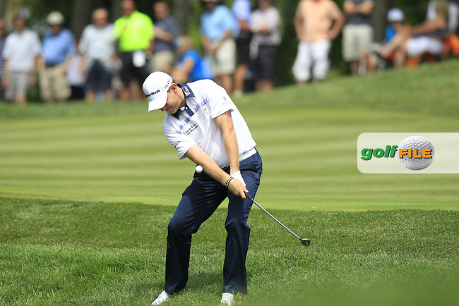 Stephen GALLACHER (SCO) chips onto the 10th green during Thursday's Round 1 of the 2014 PGA Championship held at the Valhalla Club, Louisville, Kentucky.: Picture Eoin Clarke, www.golffile.ie: 7th August 2014