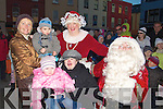 WISH: Helen Callaghan who got her wish to meet Santa on Saturday with her Family, L-r: Geraldine Cantillon, Jack Greer, Kelly O'Sullivan ,Orla Conlon Mrs Clause) and Santa Clause............................ ..........