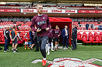 Oli McBurnie of Swansea City exits the tunnel prior to the Sky Bet Championship match between Middlesbrough and Swansea City at the Riverside Stadium, Middlesbrough, England, UK. Saturday 22 September 2018