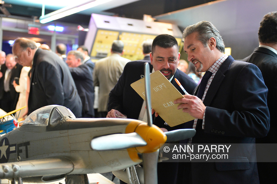 Feb. 27, 2013 - Garden City, New York, U.S. - During the 10th Annual Cradle of Aviation Museum Air & Space Gala, celebrating the 40th Anniversary of Apollo 17, a Silent Auction of donated items such as large scale airplane models, is held to raise funds for the museum.