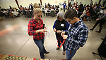 Volunteers sort raffle tickets at the annual Western Nevada College Foundation Scholarship Appreciation &amp; Recognition Celebration in Carson City, Nev., on Friday, March 9, 2018. <br /> Photo by Cathleen Allison/Nevada Momentum