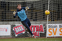 7th March 2020; Somerset Park, Ayr, South Ayrshire, Scotland; Scottish Championship Football, Ayr United versus Dundee FC; Conor Hazard of Dundee during the warm up before the match