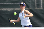 20 April 2016: Notre Dame's Monica Robinson. The University of Notre Dame Fighting Irish played the University of Pittsburgh Panthers at the Cary Tennis Center in Cary, North Carolina in the first round of the Atlantic Coast Conference Women's Tennis Tournament. Notre Dame won the match 4-3.