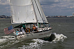 Sailboat Sailing in the Charleston South Carolina Harbor
