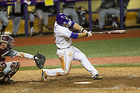 LSU Tigers first baseman Chris Chinea (26) swings the bat during a Southeastern Conference baseball game against the Texas A&M Aggies on April 23, 2015 at Alex Box Stadium in Baton Rouge, Louisiana. LSU defeated Texas A&M 4-3. (Andrew Woolley/Four Seam Images)