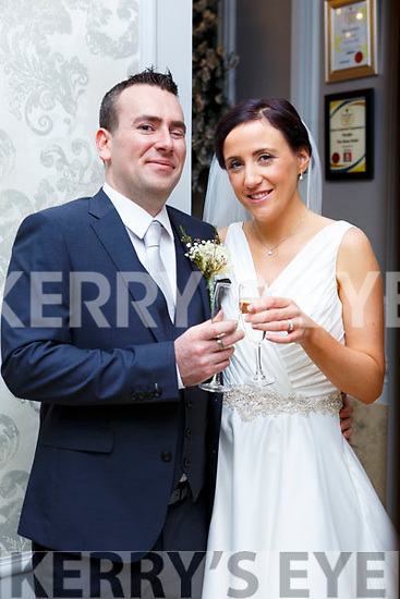 Marian Walsh, daughter of Richie and Mary, Kilmurry, Cordal, and James O'Mahony, son of Peter and Marie, Clounacurrig, Farranfore, who were married on Saturday, in the Church of the Immaculate Conception, Cordal. Fr Dan O'Riordan officiated at the ceremony. Best man was Redmond O'Mahony and groomsman was Anthony McCann. Bridesmaids were Elaine Corkery and Noelle O'Connor. The reception was held in The Rose Hotel, Tralee and the couple will reside in Ballincollig, Co. Cork.