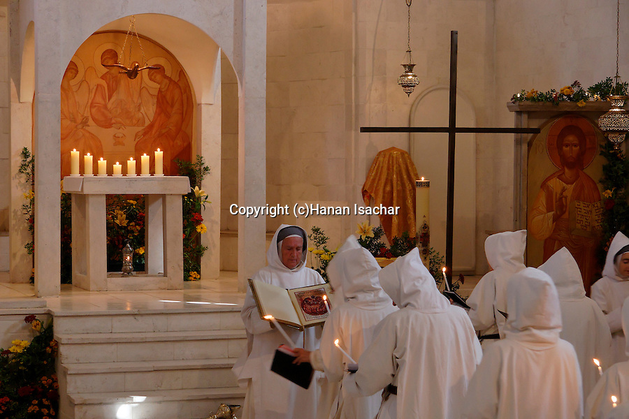 Israel, La Trinite holiday at Beth Gemal Monastery