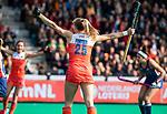 ROTTERDAM -  Kyra Fortuin (Ned) scoort   tijdens de Pro League hockeywedstrijd dames, Nederland-USA  (7-1) .  COPYRIGHT  KOEN SUYK