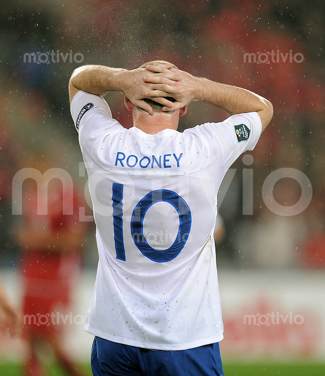 FUSSBALL INTERNATIONAL  EM 2012-Qualifikation  Gruppe A  07.09.2010 Schweiz - England Wayne ROONEY (England)