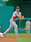 2 September 2012: St. Louis Cardinals infielder Pete Kozma in action against the Washington Nationals at Nationals Park in Washington, DC. The Nationals edged out the visiting Cardinals 4-3, capping their 4-game series with three wins. Mandatory Credit: Ed Wolfstein Photo