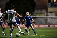 Seattle, WA - Sunday, September 11 2016: Seattle Reign FC forward Megan Rapinoe (15) watches on during a regular season National Women's Soccer League (NWSL) match between the Seattle Reign FC and the Washington Spirit at Memorial Stadium. Seattle won 2-0.