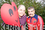 HAVE A HAPPY HEART: Robert (Barney) Barnes and Michael McCauley from Tralee have set up the Tralee Heart Support Group, a monthly meeting for people suffering heart problems.