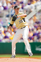 Starting pitcher Justin Van Grouw #30 of the Wake Forest Demon Deacons in action against the LSU Tigers at Alex Box Stadium on February 20, 2011 in Baton Rouge, Louisiana.  The Tigers defeated the Demon Deacons 9-1.  Photo by Brian Westerholt / Four Seam Images