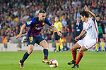 Jordi Alba of FC Barcelona (L) in action against Jesus Navas of Sevilla FC (R) during the La Liga 2018-19 match between FC Barcelona and Sevilla FC at Camp Nou Stadium on October 20 2018 in Barcelona, Spain. Photo by Vicens Gimenez / Power Sport Images