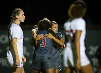 Stanford, CA - October 3, 2019: Madison Haley, Sophia Smith at Laird Q Cagan Stadium. The Stanford Cardinal beat the Washington State Cougars 5-0.