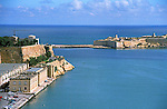 Port and harbor of Valletta capital city of the island nation of Malta in the Mediterranean sea