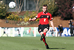 14 November 2010: Maryland's Taylor Kemp. The University of Maryland Terrapins defeated the University of North Carolina Tar Heels 1-0 at WakeMed Soccer Park in Cary, North Carolina in the ACC Men's Soccer Tournament Championship game.