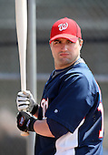 March 22, 2010:  Catcher Josh Johson (10) of the Washington Nationals organization during Spring Training at the Carl Barger Training Complex in Melbourne, FL.  Photo By Mike Janes/Four Seam Images