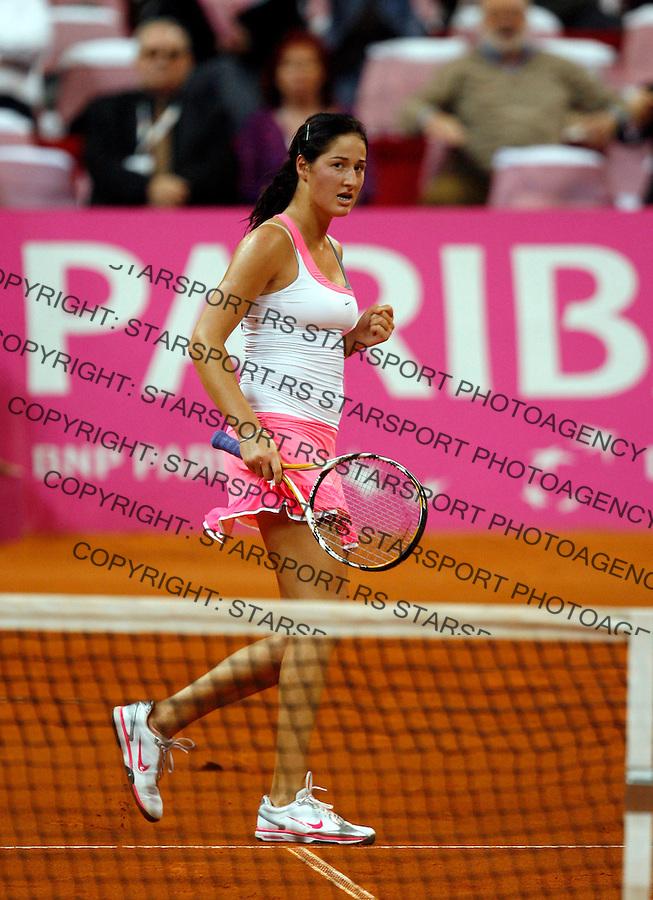 Tennis, FED CUP.Serbia Vs. Slovakia, .Bojana Jovanovska  Vs. Magdalena Rybarikova.Bojana Jovanovska, react.Beograd, 25.04.2010..foto: Srdjan Stevanovic/Starsportphoto ©