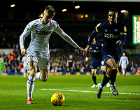 Leeds United's Jack Clarke goes past Derby County's Max Lowe<br /> <br /> Photographer Alex Dodd/CameraSport<br /> <br /> The EFL Sky Bet Championship -  Leeds United v Derby County - Friday 11th January 2019 - Elland Road - Leeds<br /> <br /> World Copyright &copy; 2019 CameraSport. All rights reserved. 43 Linden Ave. Countesthorpe. Leicester. England. LE8 5PG - Tel: +44 (0) 116 277 4147 - admin@camerasport.com - www.camerasport.com