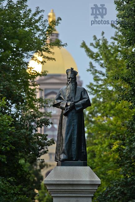 Aug. 30, 2013; Statue of Fr. Sorin on Main Quad.<br /> <br /> Photo by Matt Cashore/University of Notre Dame