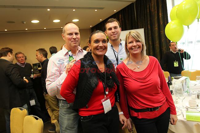 Victorious Launch Lunch..L-R: Kevin Shill, Nicola Thomas, Joshua Gale & Lisa Batkin..03.12.11.©Steve Pope