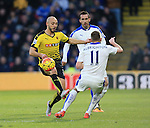 Watford's Nordin Arabat tussles with Leicester City's Marc Albrighton<br /> <br /> - English Premier League - Watford vs Leicester City  - Vicarage Road - London - England - 5th March 2016 - Pic David Klein/Sportimage